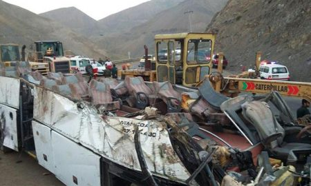 Iran - tanker - bus - accident